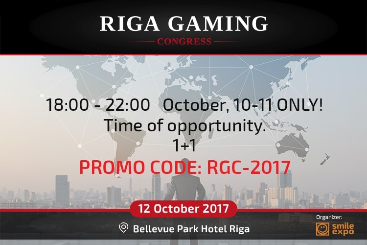Happy hours to buy tickets to Riga Gaming Congress